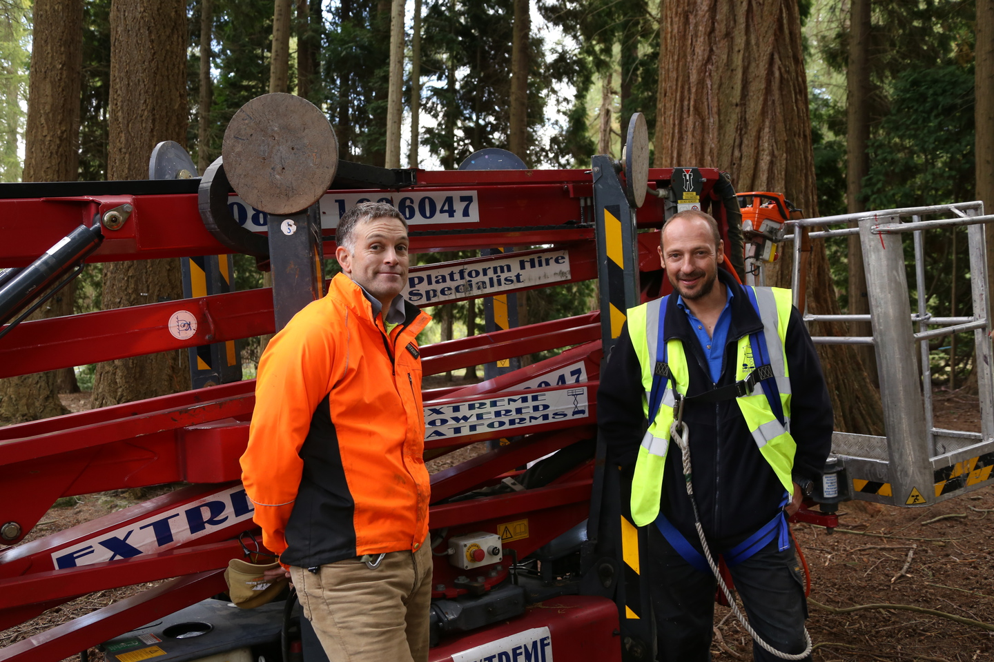 Julian (Bedgebury Pinetum) and Nigel (Extreme Powered Platforms)
